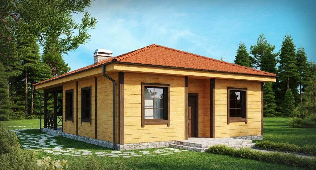 дървена сглобяема къща