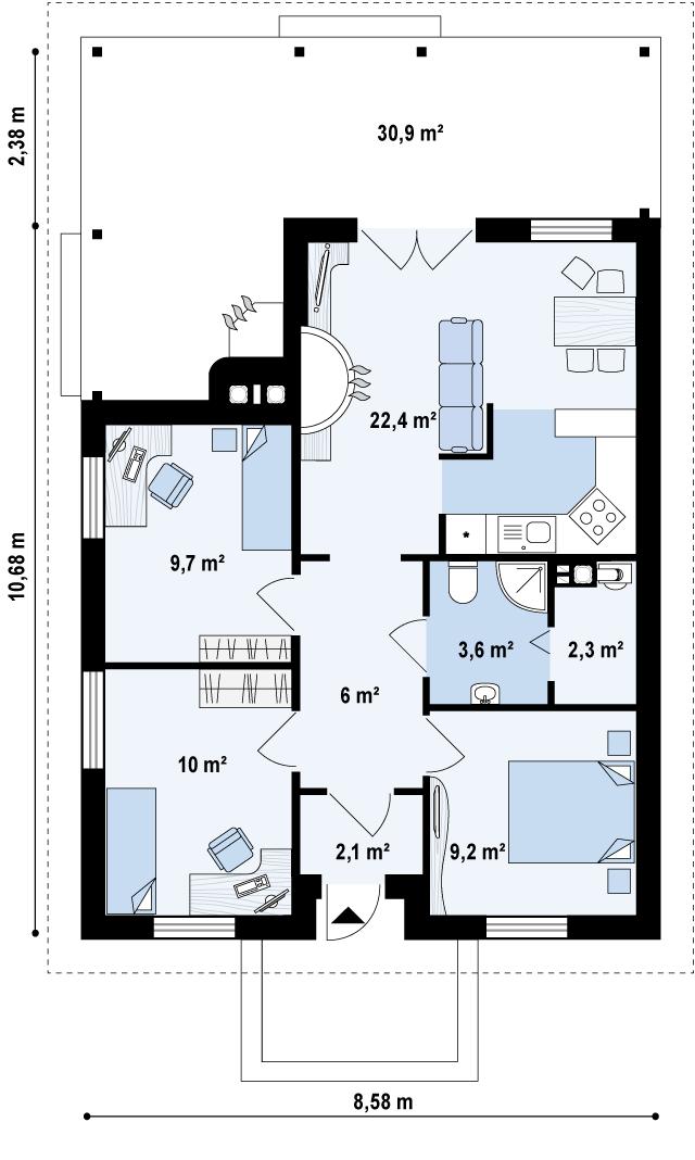 проект на евтина сглобяема къща