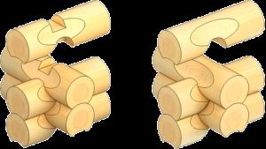 Канадска сглобка на дървена къща
