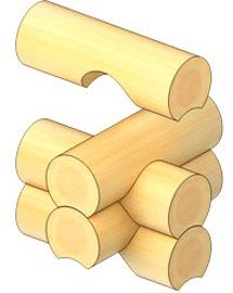 Руска сглобка на дървена къща