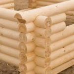 Casas de madera de troncos cilindrados mecánicamente